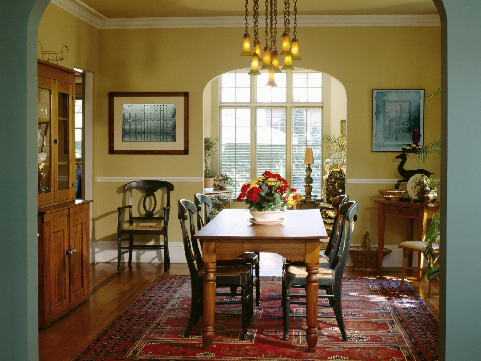 Dining room table with china cabinet